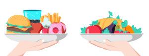 偏った栄養の外食か健康的な食事補助、どちらを選びますか?