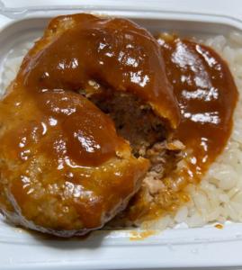 社食ランチ:煮込みハンバーグ