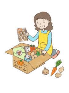 一人暮らしの娘、息子へ仕送りで食べ物を送って健康を支えたい